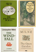 Books:Signed Editions, Christopher Milne. Four inscribed books, the author's personal copies. [London: 1974-1988].... (Total: 4 )
