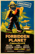 Movie Posters:Science Fiction, Forbidden Planet (MGM, 1956). Fine+ on Paper. Sik ...