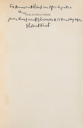 Books:Signed Editions, Robert Frost. Collected Poems. New York: Random House, 1930. Limited edition, #80/1,000. Inscribed and signed by F...