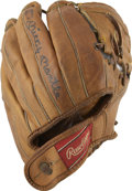 "Autographs:Others, Mickey Mantle Signed Glove. The Rawlings Mickey Mantle model glovehas the distinction of holding the signature of the ""Com..."