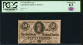 Confederate Notes:1864 Issues, T72 50 Cents 1864 PF-1 Cr. 578 PCGS Choice New 63.. ...