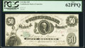 Confederate Notes:1861 Issues, T8 $50 1861 PF-4 Cr. 18 PCGS New 62PPQ.. ...