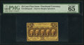 Fractional Currency:First Issue, Fr. 1282SP 25¢ First Issue Narrow Margin Face PMG Gem Unc...