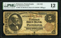 National Bank Notes:Pennsylvania, Pottstown, PA - $5 1882 Brown Back Fr. 469 The National Iron Bank Ch. # 3494 PMG Fine 12.. ...