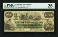 Obsoletes By State:Louisiana, New Orleans, LA- City of New Orleans $1 Oct. 24, 1862 PMG Very Fine 25.. ...