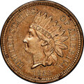 1858 P1C Indian Cent, Judd-208, Pollock-259, R.1, MS64 NGC. NGC Census: (20/5). PCGS Population: (16/5). ...(PCGS# 11884...
