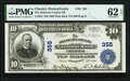 National Bank Notes:Pennsylvania, Chester, PA - $10 1902 Plain Back Fr. 624 The Delaware County National Bank Ch. # 355 PMG Uncirculated 62 EPQ.. ...