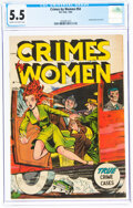 Golden Age (1938-1955):Classics Illustrated, Crimes By Women #54 (M. S. Publications, 1954) CGC FN- 5.5 Cream to off-white pages....