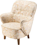 Furniture, Danish School (20th Century). Lounge Chair. Wood, upholstery. 34 x 29-1/2 x 30 inches (86.4 x 74.9 x 76.2 cm). ...