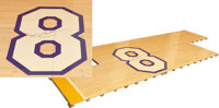 """2016 Kobe Bryant Number """"8"""" Staples Center Hardwood Used in His Historic Sixty-Point Farewell Game"""