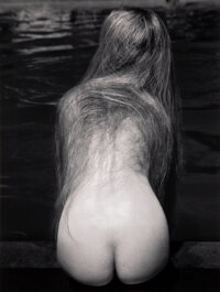 Ruth Bernhard (American, 1905-2006) At the Pool, 1951 Gelatin silver, printed later 13-5/8 x 10-3