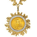 Estate Jewelry:Necklaces, Diamond, Gold Coin, Gold Necklace. ...