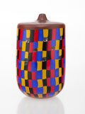 Glass, Yoichi Ohira (Japanese, b. 1946). Mosaico Vase, 1999. Glass. 8 x 4-7/8 inches (20.3 x 12.4 cm). Signed and dated to unde...