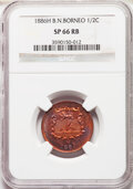British North Borneo: British Protectorate Specimen 1/2 Cent 1886-H SP66 Red and Brown NGC