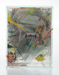 Dana Zámecníková (Czech, b. 1945) Sculpture, circa 1995 Glass, mixed media 9-1/2 x 7-1/4 x 4 inch...