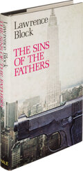 Books:Mystery & Detective Fiction, Lawrence Block. The Sins of the Fathers. London: Robert Hale, 1979. First UK edition. Presentation copy, signed by...