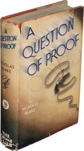 Books:Mystery & Detective Fiction, Nicholas Blake. A Question of Proof. London: The Crime Club, Ltd., [1935]. First edition of the author's first myste...