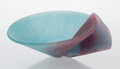 Glass, Tessa Clegg (British, b. 1945). Bowl, 1987. Pâte de verre. 5-1/8 x 11 inches (13 x 28 cm). Signed and dated to underside...