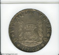 Mexico: , Mexico: Carlos III Pillar 8 Reales 1761-MM, KM105, MS62 NGC. Abeautiful coin with gray patina and gold highlights in theperipheral...