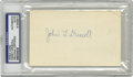 Football Collectibles:Others, Paddy Driscoll Signed Index Card. This early Chicago football star passed away almost four decades ago, making quality exam...
