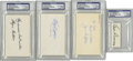 Football Collectibles:Others, Early Football Legends Autographs Lot of 4. Bulk up your vintage football autograph collection in a hurry with this offerin...