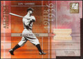Baseball Cards:Singles (1970-Now), 2003 Donruss Elite All-Time Career Best Lou Gehrig Bat Relic Card #AT-4....