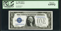 Low Serial Number 100 Fr. 1600 $1 1928 Silver Certificate. PCGS Choice New 63PPQ