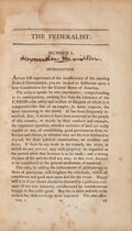 Books:Americana & American History, [Alexander Hamilton, James Madison, and John Jay]. The Federalist, on the New Constitution. By Publius. Written in... (Total: 2 )