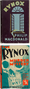 Books:Mystery & Detective Fiction, Philip MacDonald. Rynox. An Exercise in Crime. London: W. Collins Sons & Co., Ltd., [1930]. First edition.... (Total: 2 )