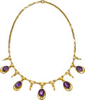 Estate Jewelry:Necklaces, Amethyst, Gold Necklace . ...