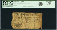 North Carolina April 4, 1748 5 Shillings Crown Fr. NC-61. PCGS Apparent Very Good 10