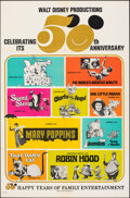 Movie Posters:Animation, Walt Disney's 50th Anniversary & Other Lot (Buena Vista, 1...