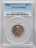 Proof Sets, Five-Piece 1954 Proof Set PR65 to PR67 PCGS. The holders display consecutive certification numbers. This Set Includes a: ... (Total: 5 coins)