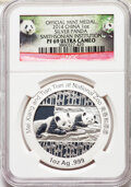 "China:People's Republic of China, China: People's Republic 10-Piece Lot of silver Proof ""Smithsonian Institution - Mei Xiang and Tian Tian"" One Ounce Panda Medals 2014... (Total: 10 coins)"
