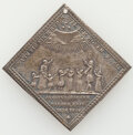 "German States:Augsburg, German States: Augsburg. Free City silver Klippe ""Children's Peace Festival"" Medal 1704 XF (Holed),..."