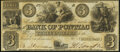 Obsoletes By State:Michigan, Pontiac, MI- Bank of Pontiac $3 circa 1860s About Uncirculated.. ...