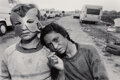 Photographs, Mary Ellen Mark (American, 1941-2015). Boy with a Mask and His Sister, Gypsy Camp, Barcelona, Spain, 1987. Gelatin silve...