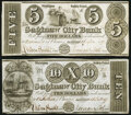 Obsoletes By State:Michigan, Saginaw, MI- Saginaw City Bank $5; $10 Dec. 26, 1837 Very Fine or Better.. ... (Total: 2 notes)