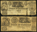Obsoletes By State:Michigan, Pontiac, MI- Bank of Oakland $1; $3 Sep. 5, 1837 Very Good.. ... (Total: 2 notes)