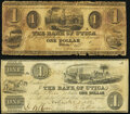 Obsoletes By State:Michigan, Utica, MI- Bank of Utica $1 1837; 1838 Very Good or Better.. ... (Total: 2 notes)