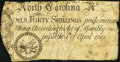 Colonial Notes:North Carolina, North Carolina April 4, 1748 40 Shillings Drum, Cannon & Flags Fr. NC-69 Fine.. ...