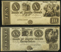 Obsoletes By State:Michigan, Battle Creek, MI- Bank of Battle Creek $10; $20 18__ Remainders Very Fine-Extremely Fine or Better.. ... (Total: 2 notes)