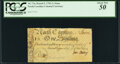 Colonial Notes:North Carolina, North Carolina March 9, 1754 1 Shilling Swan Fr. NC-73a PCGS About New 50.. ...