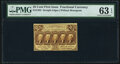Fr. 1282 25¢ First Issue PMG Choice Uncirculated 63 EPQ