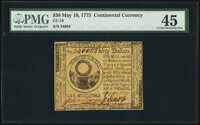 Continental Currency May 10, 1775 $30 PMG Choice Extremely Fine 45