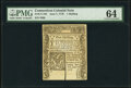 Connecticut June 7, 1776 1s PMG Choice Uncirculated 64