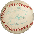 Baseball Collectibles:Balls, 1960's Mercury Seven Astronauts Signed Baseball with Gus Grissom....