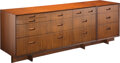 Furniture, Frank Lloyd Wright (American, 1867-1959). Taliesin Chest of Drawers with Integrated Night Stand, circa 1950, Henredon. M... (Total: 3 Items)