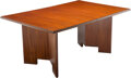 Furniture, Frank Lloyd Wright (American, 1867-1959). Taliesin Extending Dining Table, circa 1950, Henredon. Mahogany . 28-1/2 x 64 ...