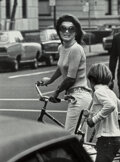 Photographs, Ron Galella (American, b. 1931). Jackie Kennedy and John Kennedy, Jr., New York, 1969. Oversized gelatin silver, printed...